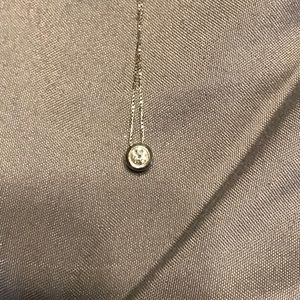 Jewelry - White Gold Diamond Bezel Necklace